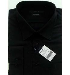 Camisa Extra Grande da coleção Plus Size, manga longa, passa fácil, cor preta, cód 1461