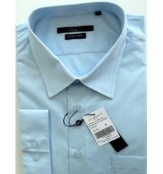 Camisa Extra Grande passa fácil, manga longa da coleção plus size, cor azul claro, código 1461