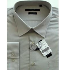Camisa Extra Grande da coleção Plus Size, manga longa, passa fácil, cor cinza, cód 1461