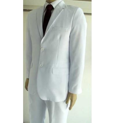 Terno branco da coleção Extra Grande, modelo de 2 botões e corte italiano, cód 941