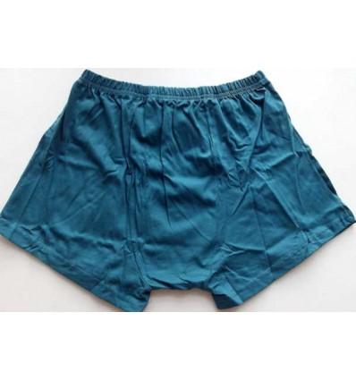Cueca azul em tecido de puro algodão com abertura frontal e elástico no cós, cód 1063