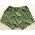 Cueca verde água em malha 4K de puros algodão com abertura frontal e elástico no cós, cód 1063