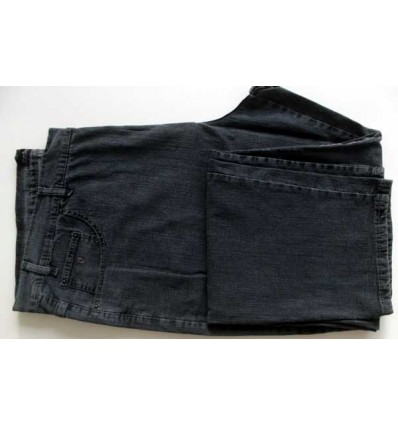Calça Pierre Cardin Plus Size, padrão exportação em Jeans com elastano de ótima qualidade, cor preta, cod 1564