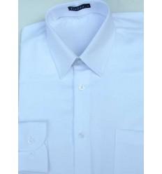 Camisa branca manga comprida de poliéster que não amassa de excelente qualidade e caimento perfeito, cód 1572
