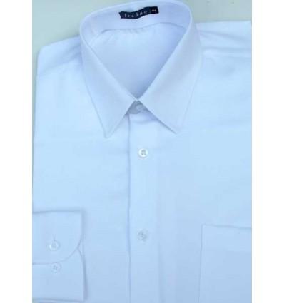 Fredao Moda Masculina Camisa branca manga comprida de poliéster que não amassa de excelente qualidade e caimento perfeito, có