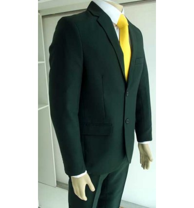 Terno verde corte italiano com aberturas atrás e dois botões fabricado em tecido oxford de ótima qualidade, código 1598