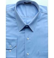 Camisa Extra Grande, Plus Size, manga longa de algodão fio 120 egípcio, cor azul, cód 1585