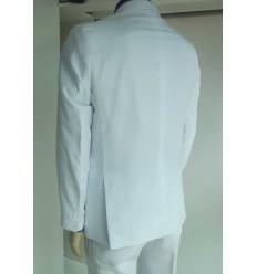 Terno branco corte Italiano de Gabardine. Ref 1600