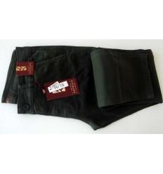 Calça slim masculina de cor verde musgo em tecido de composição 98% de algodão e 2% elastano, cód 1617