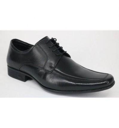 Sapato Masculino Preto de Couro Pelica com Cadarço e Tecnologia Air Bag, Cód 1567 Entrega imediata com todas garantias da Emp