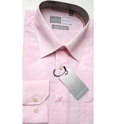 Camisa masculina passa fácil manga longa cor rosa de ótima qualidade, cód 891