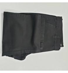 Calça esporte fino, preta de algodão, Ref 1079