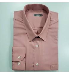 Camisa masculina extra grande cor vinho mangas compridas, Ref 1585
