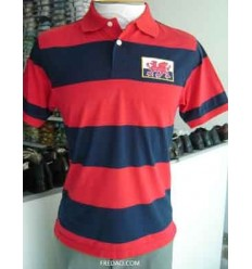 Camiseta gola polo de algodão. cor  vermelha - cod. 844