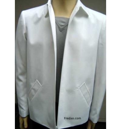 Jaqueta branca, modelo caban em microfibra oxford de ótima qualidade, cód 1067