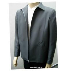 Jaqueta cinza, estilo caban em microfibra oxford, cód 457