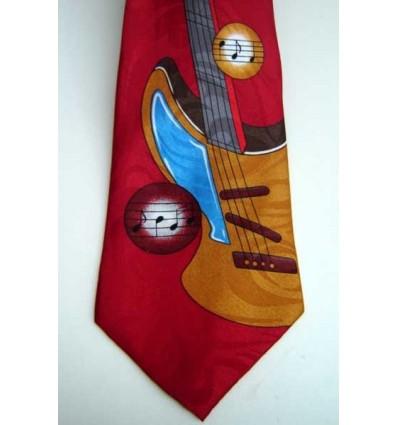 Gravata vinho tradicional longa com design guitarra, cód 961GU Entrega imediata com todas garantias da Empresa Fredao