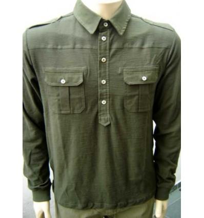 Fredao Moda Masculina Camisa esporte fino cor musgo, manga longa com caimento perfeito, cód CA01 Entrega imediata com todas gar