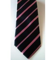 Gravata preta listrada, modelo longo tradicional com ótimo caimento, cód  Cód 374.A4