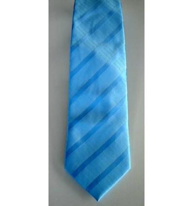 Gravata azul longa tradicional com design moderno e ótimo caimento, cód 374.A7