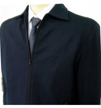 Jaqueta de lã com ótima qualidade com caimento perfeito, cor azul, Cód. 608