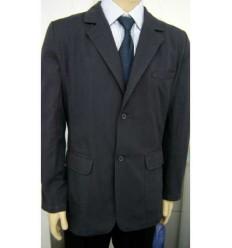 Blazer esporte fino de 2 botões em tecido de algodão na cor cinza, cód 1260