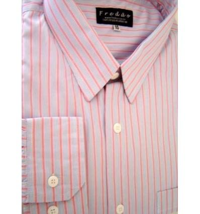 Fredao Moda Masculina Camisa Extra Grande de algodão, fio 100, listrada, Ref. 991CR Entrega imediata com todas garantias da Emp