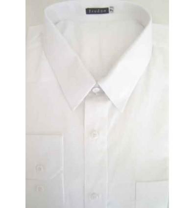 Fredao Moda Masculina Camisa Extra Grande de algodão, fio 100, cor branca. Ref. 991BC Entrega imediata com todas garantias da E