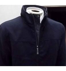 Jaqueta dupla face, configuração inteligente para lã ou tecido, cor azul, cód 1007