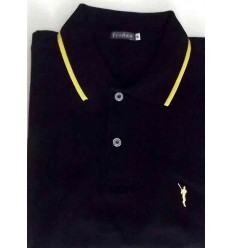 Camiseta polo em malha piquet preta, manga curta da coleção nova em promoção, cod. 1199