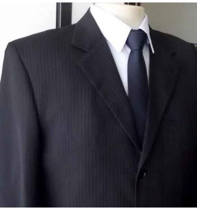 Fredao Moda Masculina Costume extra grande  risca de giz, 2 botões da coleção plus size cód 1262 Entrega imediata com todas