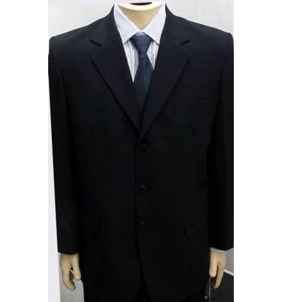 Fredao Moda Masculina Terno de casimira preto, extra grande, modelo tradicional três botões, Ref. 941 Entrega imediata com tod