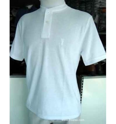 Fredao Moda Masculina Camiseta branca gola portuguesa. Cód 1202 Entrega imediata com todas garantias da Empresa Fredao