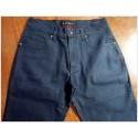 Calça Jeans azul de algodão com elastano, macia e confortável, cód 1068