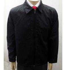 Jaqueta preta em tecido 100% de poliéster, modelo esporte chic, Cód 1374