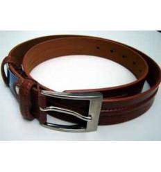 Cinto masculina de couro sintético cor marrom, modelo tradicional,  cód. 225A