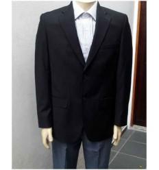 Blazer Extra Grande preto com corte italiano em tecido poliviscose, cód 951A