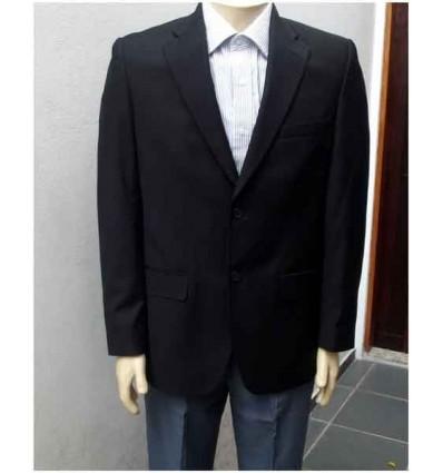 Fredao Moda Masculina Blazer Extra Grande preto com corte italiano em tecido poliviscose, cód 951A Entrega imediata com todas g