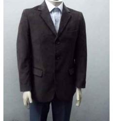 Blazer de algodão marrom, corte italiano com duas aberturas, cód 248