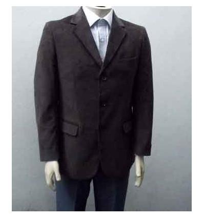 Blazer de algodão marrom, corte italiano com duas aberturas, cód 248 Entrega imediata