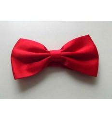 Gravata borboleta vermelha em poliéster com design tradicional, cód GBV