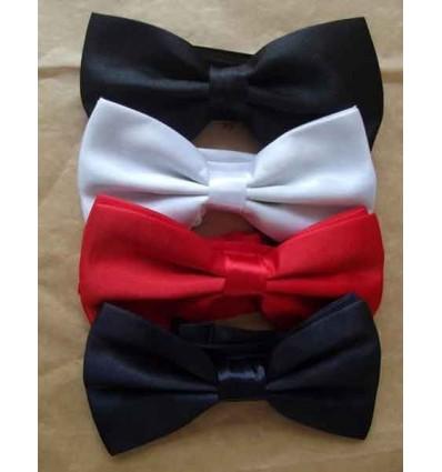 Fredao Moda Masculina Gravata borboleta, sendo 1 kit com 4 unidades (preta, branca, azul e vermelha) em poliéster com design tr